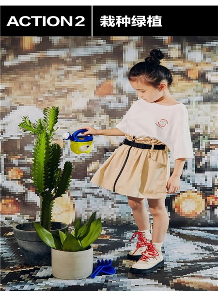little MO&Co.童装品牌2020秋冬纯色半身裙