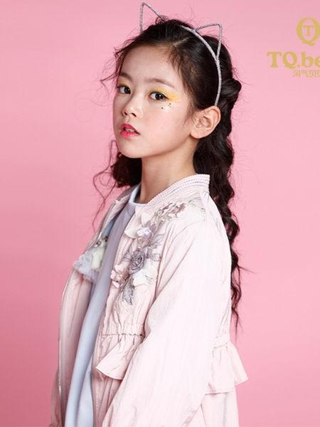淘气贝贝童装品牌2020秋冬印花粉色外套