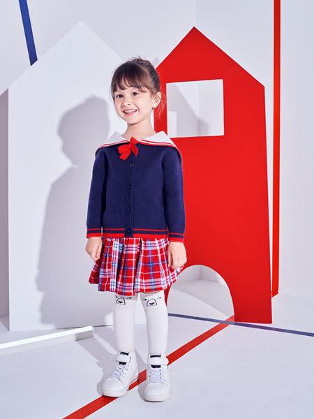 巴布豆童装品牌2020秋冬韩版黑色针织衫