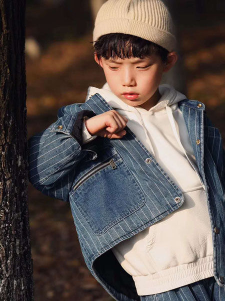 吾名堂童装品牌2020秋冬条纹牛仔外套