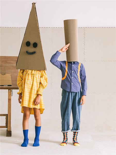 Mayosimple五月童品童装品牌2020秋冬蓝色条纹开衫