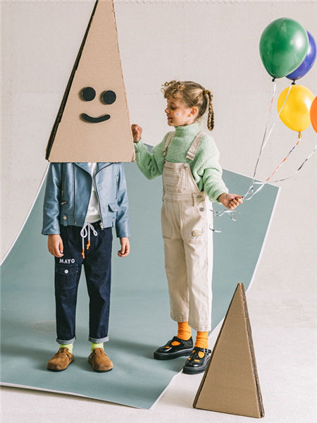 Mayosimple五月童品童装品牌2020秋冬可爱纯色吊带裤