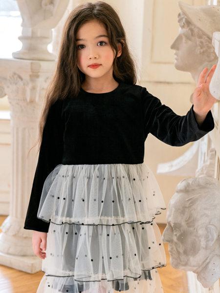 HULILULU呼尼噜噜童装品牌2020秋冬波点半透半身裙