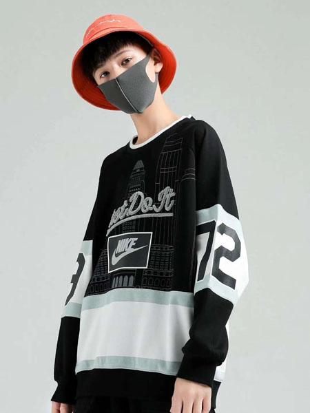 石头剪子布童装品牌2020秋冬几何黑色T恤