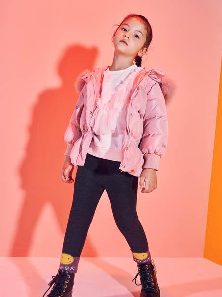 巴布豆童装品牌2020秋冬舒适粉色带帽外套