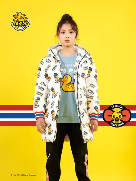 小黄鸭青少年童装品牌2020秋冬印花带帽外套