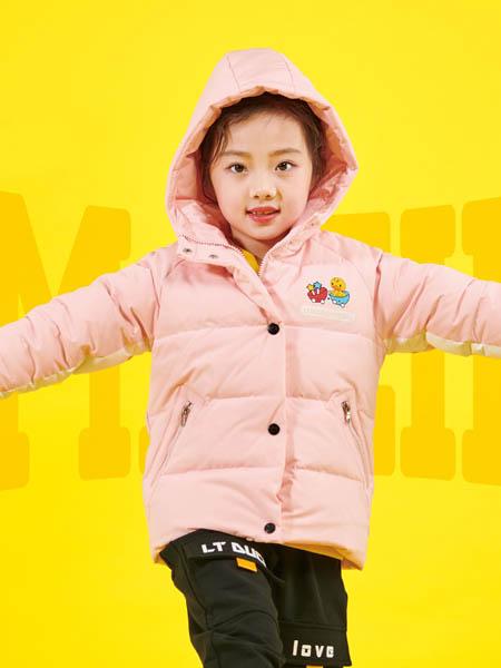 小黄鸭青少年童装品牌2020秋冬潮流粉色羽绒服