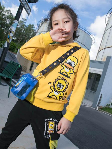 SugarDuck童装品牌2020秋冬黄色鸭子个性卫衣