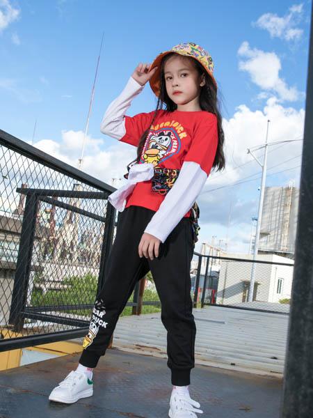 SugarDuck童装品牌2020秋冬红白假两件可爱上衣