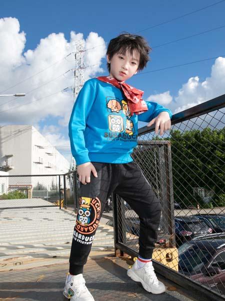 SugarDuck童装品牌2020秋冬蓝色舒适上衣