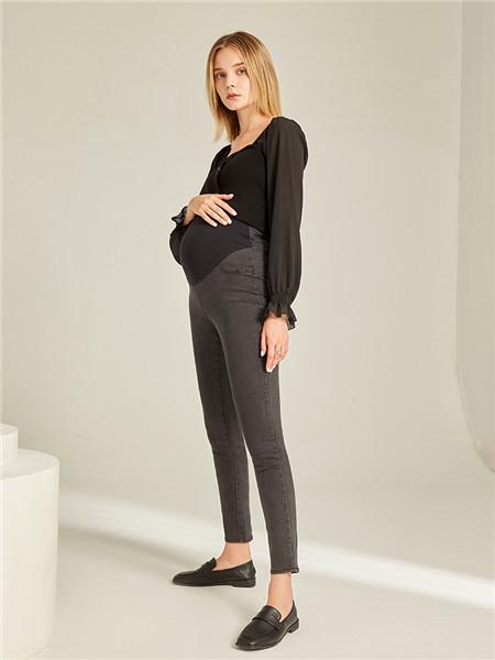 快乐屋HAPPYHOUSE孕妇品牌显瘦洋气小黑裤孕妇裤