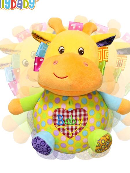 Jollybaby�胪�玩具�和�小牛玩偶