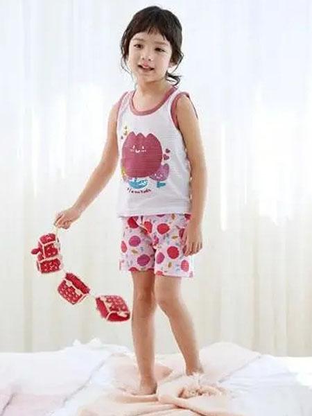 olomimi童装品牌2020秋冬白色卡通背心