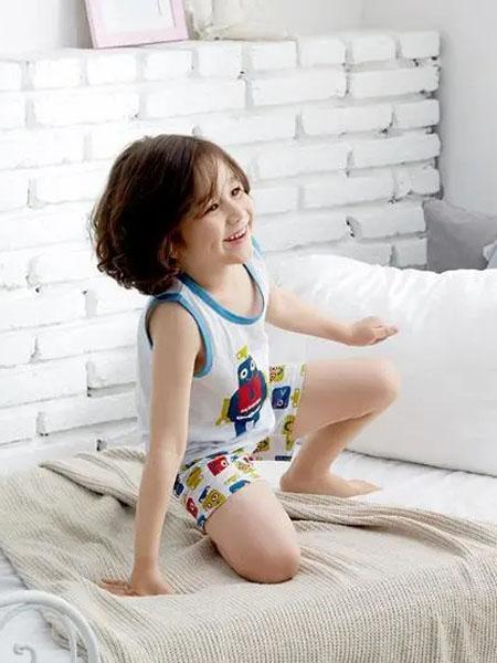 olomimi童装品牌2020秋冬白色童趣背心