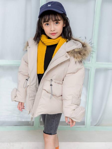 宾果童话童装品牌2020秋冬加绒纯色棉衣