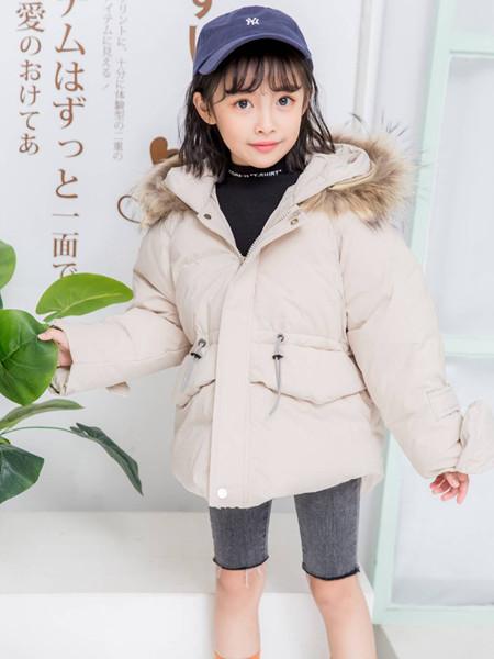 宾果童话童装品牌2020秋冬纯色保暖羽绒服