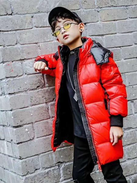 宾果童话童装品牌2020秋冬红色羽绒外套