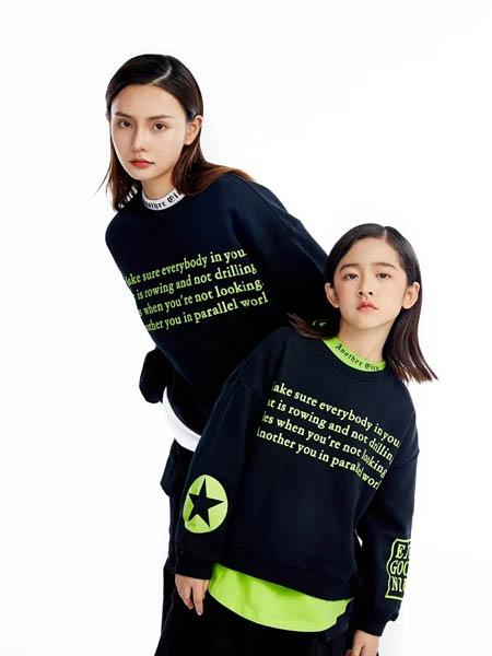 E.I亲子时装情侣亲子2020秋冬黑色紫色圆领套头衫