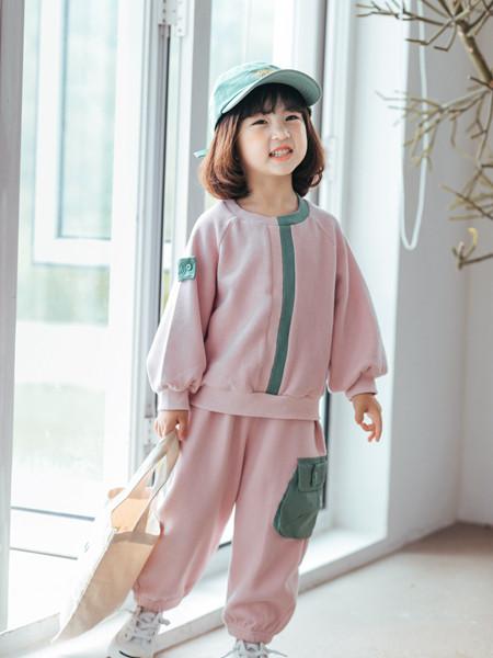 小嗨皮童�b品牌2020秋冬粉色�A�I��衫