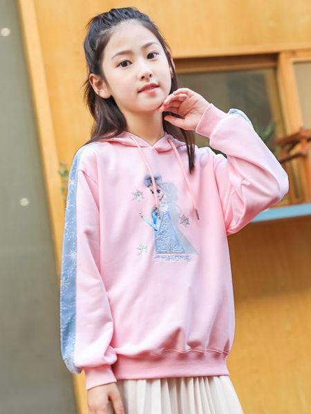 123童装童装品牌2020秋冬粉色卡通卫衣