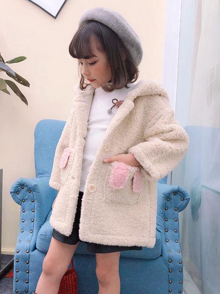 123童装童装品牌2020秋冬纯色毛呢外套