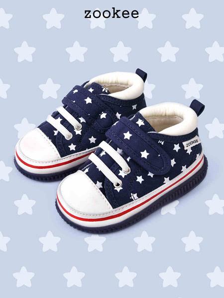 ZOOKEE童鞋品牌2020秋冬加绒保暖蓝色星星鞋