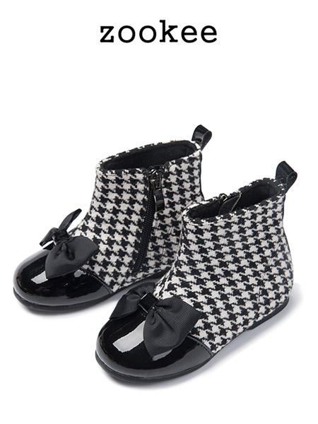 ZOOKEE童鞋品牌2020秋冬公主百搭英伦风加绒儿童短靴