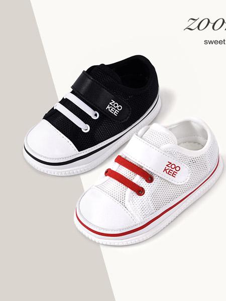ZOOKEE童鞋品牌2020秋冬透气纯色婴童学步鞋