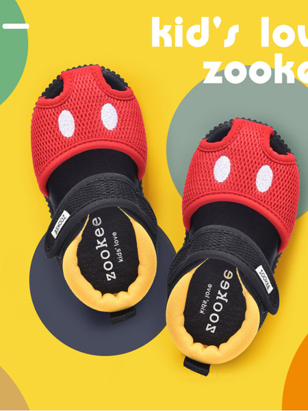 ZOOKEE童鞋品牌2020秋冬包头软底红色宝宝鞋