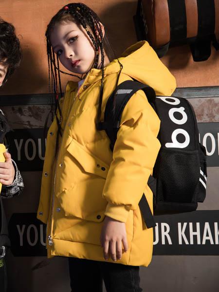 巴迪小虎BaDi Tiger童装品牌2020秋冬黄色带帽风衣