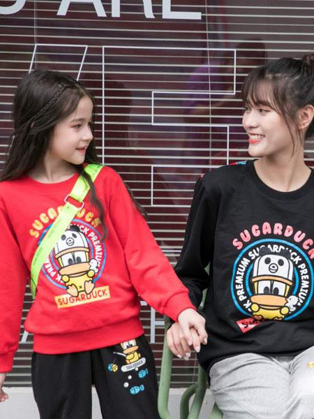 恒星童装品牌2020秋冬卡通鸭红色羊毛衫