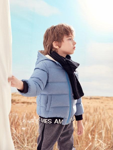 蒙蒙摩米 Mes amis童装品牌2020冬季保暖灰色羽绒服