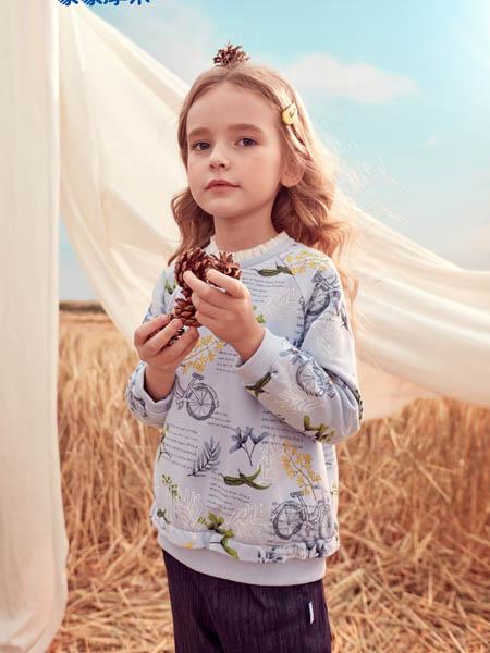 蒙蒙摩米 Mes amis童装品牌2020冬季印花卫衣
