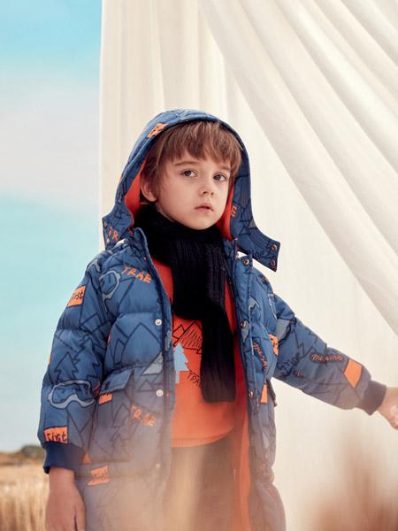蒙蒙摩米 Mes amis童装品牌2020冬季印花加绒外套