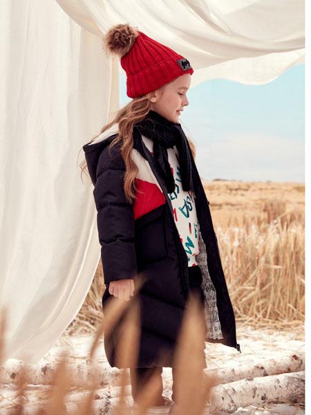 蒙蒙摩米 Mes amis童装品牌2020冬季黑色长款外套