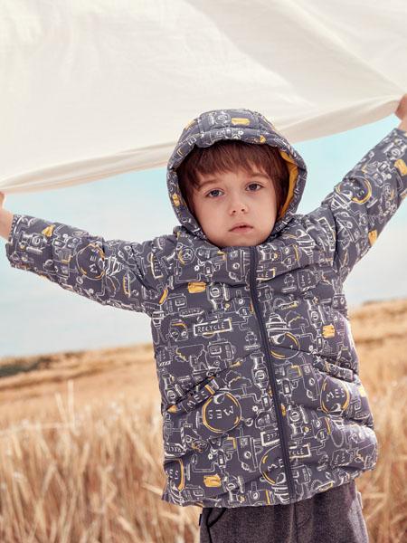 蒙蒙摩米 Mes amis童装品牌2020冬季男款印花外套