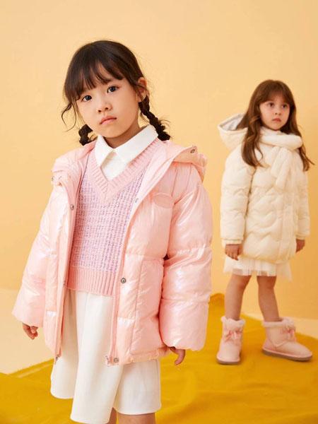 贝甜童装品牌2020秋冬粉色羽绒外套