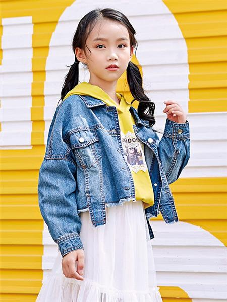 嗒嘀嗒童装品牌2020秋冬女款牛仔外套