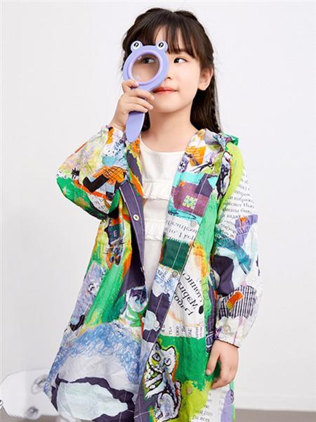嗒嘀嗒童装品牌2020秋冬印花外套