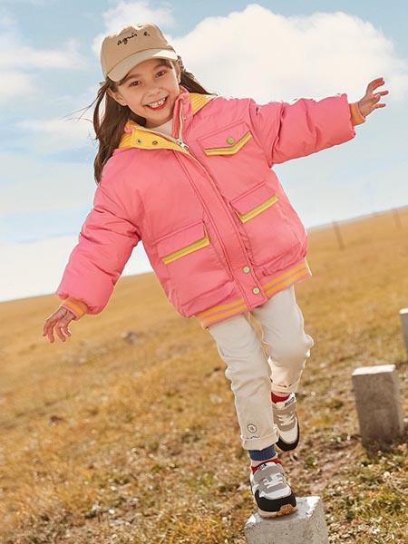 尼尔斯嘉童装品牌2020秋冬红色羽绒外套