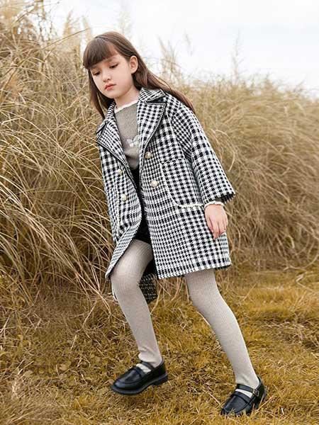 尼尔斯嘉童装品牌2020秋冬格子纹外套