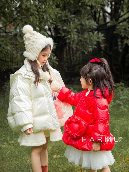 哈沐童装品牌2020秋冬白色羽绒服