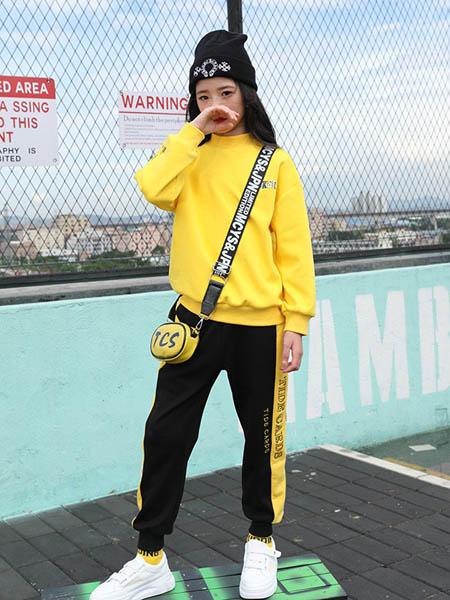 糖果布丁  青少年潮牌童装品牌2020秋冬黄色潮流上衣