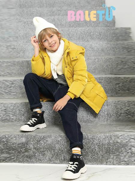 芭乐兔童装品牌2020秋冬潮流黄色外套