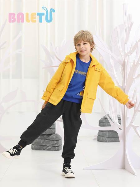 芭乐兔童装品牌2020秋冬黄色休闲夹克