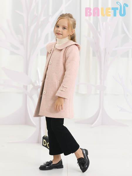 芭乐兔童装品牌2020秋冬粉色时尚外套