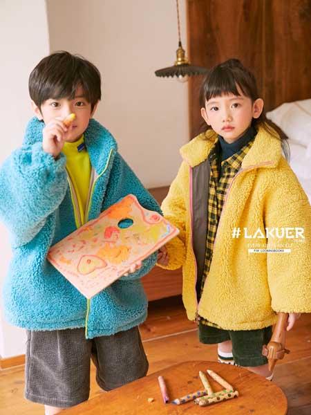 拉酷儿童装品牌2020秋冬纯色羊绒外套