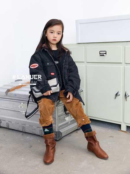 拉酷儿童装品牌2020秋冬潮流印花女童牛仔外套