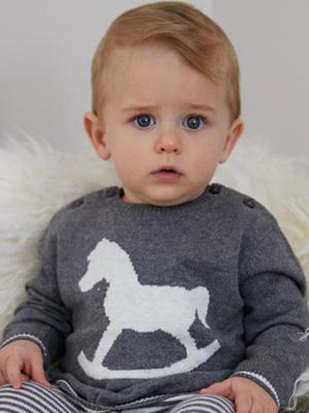 thelittletailor童装品牌2020秋冬可爱黑色印花针织衫