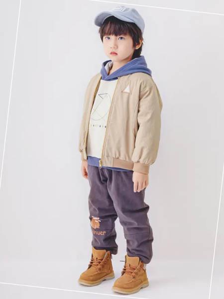 森虎儿童装品牌2020秋冬男童驼色加绒外套